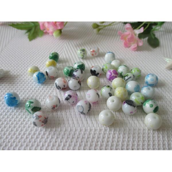 Vert pâle givré Perles Verre Ronde 100 x 8 mm Strand