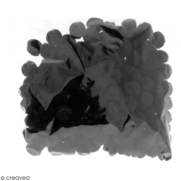 Lot de pompons 15 mm - Noir - Environ 200 pcs - Photo n°2