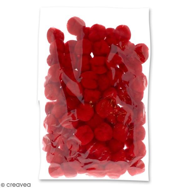 Lot de pompons 30 mm - Rouge - Environ 100 pcs - Photo n°2