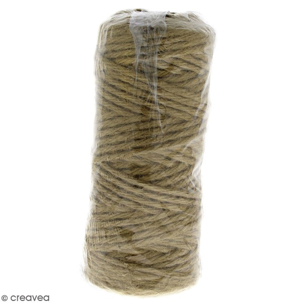 Fil de jute naturel en bobine - 4 plis - 3,5 mm - 50 m - Photo n°1
