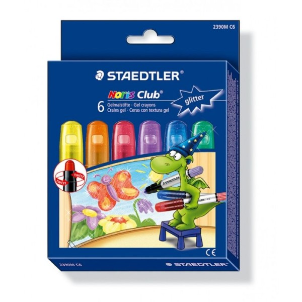 Staedtler - Noris Club - Pack de 6 Craies gels - Assortis - Photo n°1