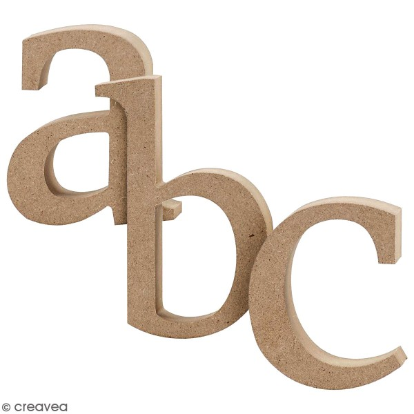 Lettre minuscule en bois - 8 à 13 cm - Photo n°1