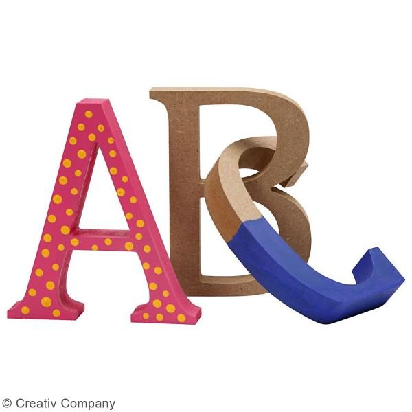 Lettre majuscule en bois à poser - 13 cm - Photo n°2