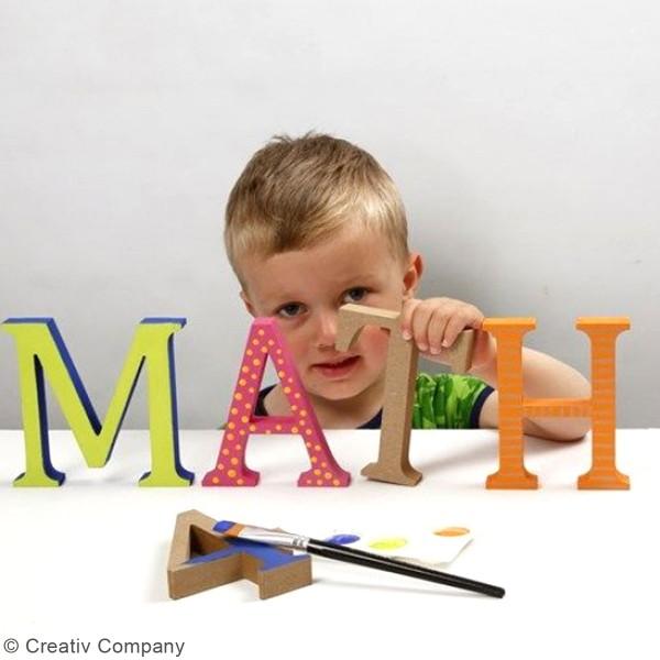 Lettre majuscule en bois à poser - 13 cm - Photo n°5
