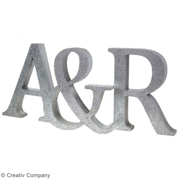 Lettre majuscule en bois à poser - 13 cm - Photo n°6