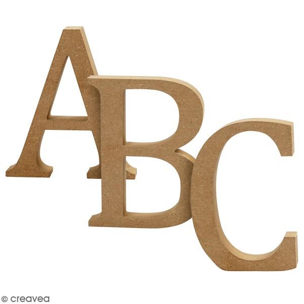 Lettre majuscule en bois à poser - 13 cm - Photo n°1