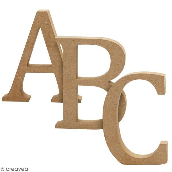 Lettre majuscule en bois à poser - 8 cm - Photo n°1