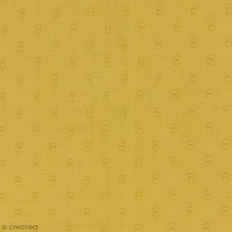 Tissu Plumetis - 100% Coton - Jaune banane - Par 10 cm (sur mesure)