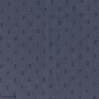 Tissu Plumetis - 100% Coton - Gris encre - Par 10 cm (sur mesure)