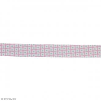 Biais Tormentille - Rose glacé - 100% coton - 22 mm - Au mètre (sur mesure)