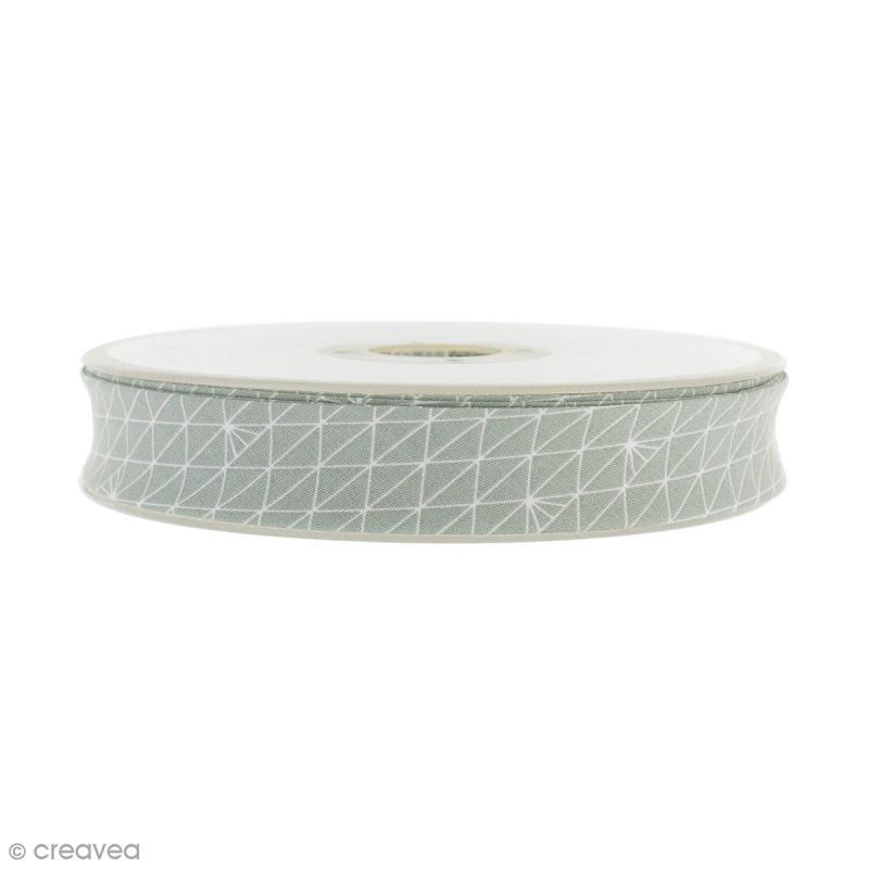 biais triangle gris glac 100 coton 22 mm au m tre sur mesure biais fantaisie creavea. Black Bedroom Furniture Sets. Home Design Ideas