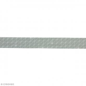 Biais Triangle - Gris glacé - 100% coton - 22 mm - Au mètre (sur mesure)