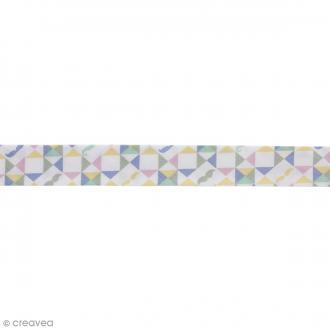 Biais Kaléidoscope - Multicolore - 100% coton - 22 mm - Au mètre (sur mesure)