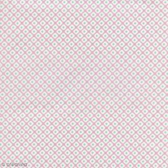 Tissu Tormentille - Rose glacé - Percale de coton - Par 10 cm (sur mesure)
