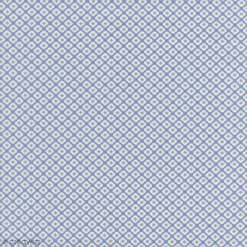 tissu tormentille bleu glac percale de coton par 10 cm sur mesure tissu au m tre. Black Bedroom Furniture Sets. Home Design Ideas