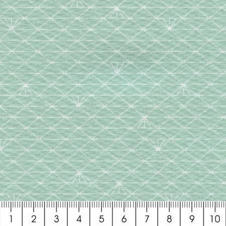 tissu triangle vert glac percale de coton par 10 cm sur mesure tissu au m tre creavea. Black Bedroom Furniture Sets. Home Design Ideas
