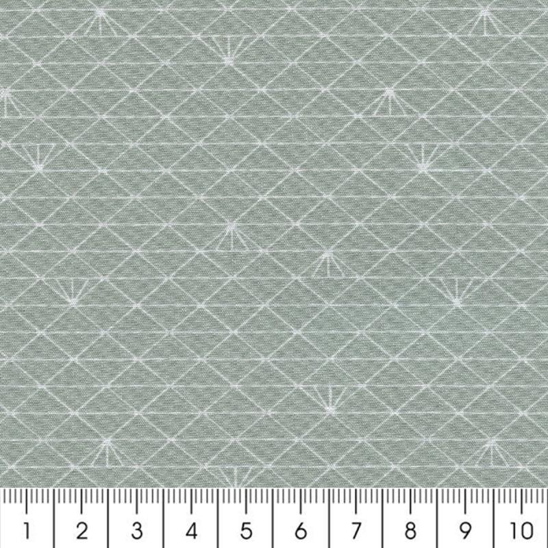 Tissu triangle gris glac percale de coton par 10 cm for Acheter miroir ancien
