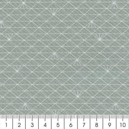 tissu triangle gris glac percale de coton par 10 cm sur mesure tissu au m tre creavea. Black Bedroom Furniture Sets. Home Design Ideas