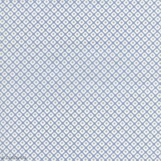 Tissu Tormentille - Bleu glacé - Coton enduit - Par 10 cm (sur mesure)