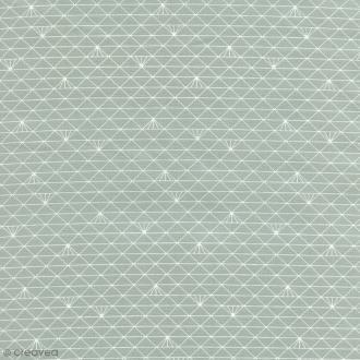 Tissu Triangle - Gris glacé - Coton enduit - Par 10 cm (sur mesure)