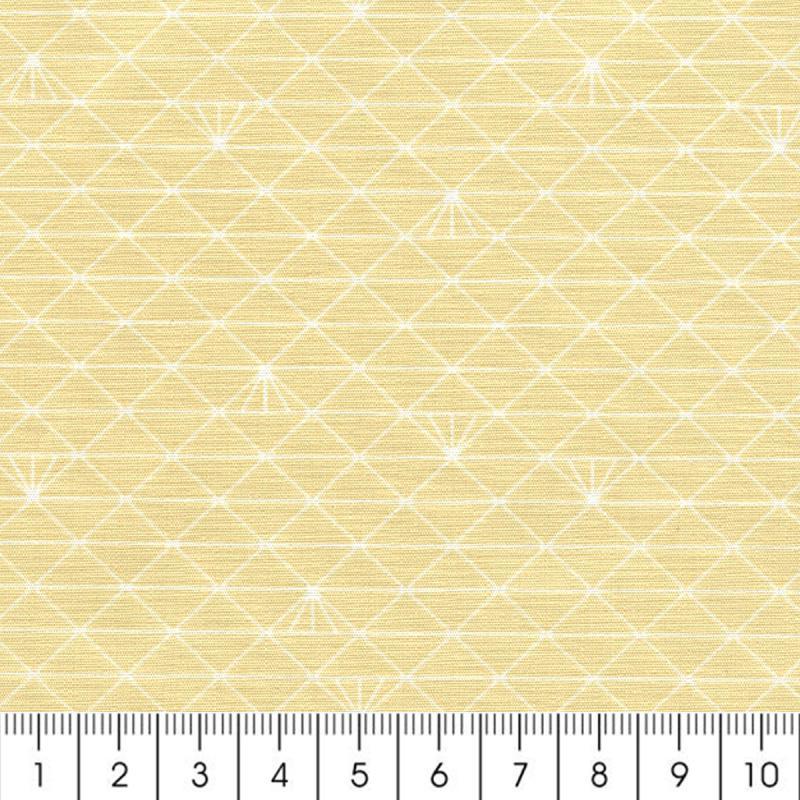 tissu triangle beige sahara glac coton enduit par 10 cm sur mesure tissu au m tre. Black Bedroom Furniture Sets. Home Design Ideas
