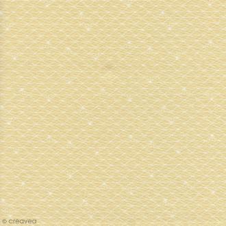 Tissu Triangle - Beige sahara glacé - Coton enduit - Par 10 cm (sur mesure)
