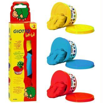 Pâte à modeler GIOTTO Bébé étui 3 pots primaires  de 100 gr