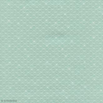 Tissu Christel G Design 96% coton - Triangle menthe glacé - Par 10 cm (sur mesure)