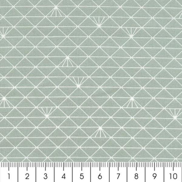 Tissu Christel G Design 96% coton - Gris Lichen glacé - Par 10 cm (sur mesure) - Photo n°2