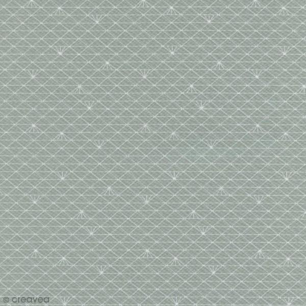 Tissu Christel G Design 96% coton - Gris Lichen glacé - Par 10 cm (sur mesure) - Photo n°1