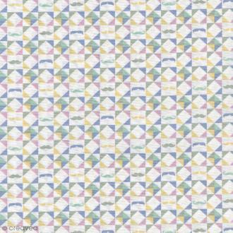 Tissu Christel G Design 96% coton - Kaléidoscope Scandinave - Par 10 cm (sur mesure)