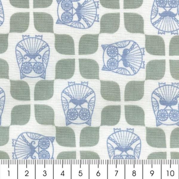 Tissu Christel G Design 96% coton - Mr Hibou en Scandinavie - Par 10 cm (sur mesure) - Photo n°2