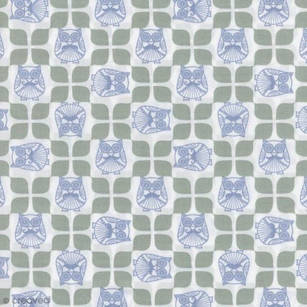 Tissu Christel G Design 96% coton - Mr Hibou en Scandinavie - Par 10 cm (sur mesure) - Photo n°1