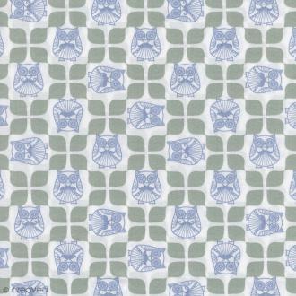 Tissu Christel G Design 96% coton - Mr Hibou en Scandinavie - Par 10 cm (sur mesure)