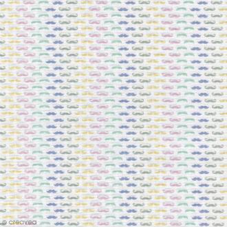 Tissu Christel G Design 96% coton - Les Moustaches de Mr Hibou - Par 10 cm (sur mesure)