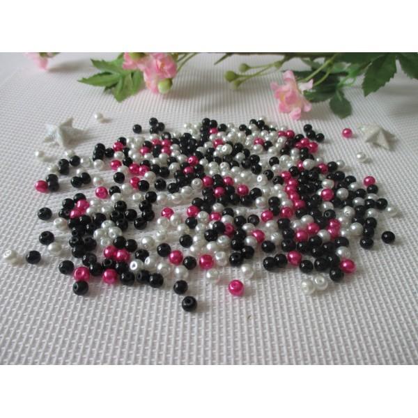 Coloris Hématite 10 Perles Nacrée en verre 16 mm