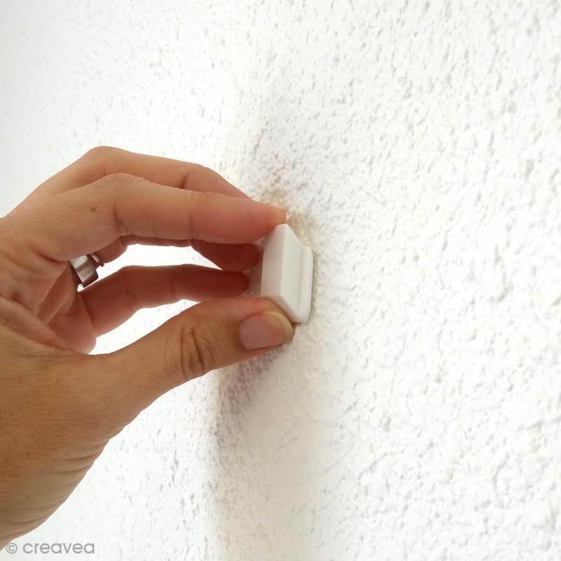 Cintre blanc pour suspension d'objets - 2,6 cm - Photo n°3