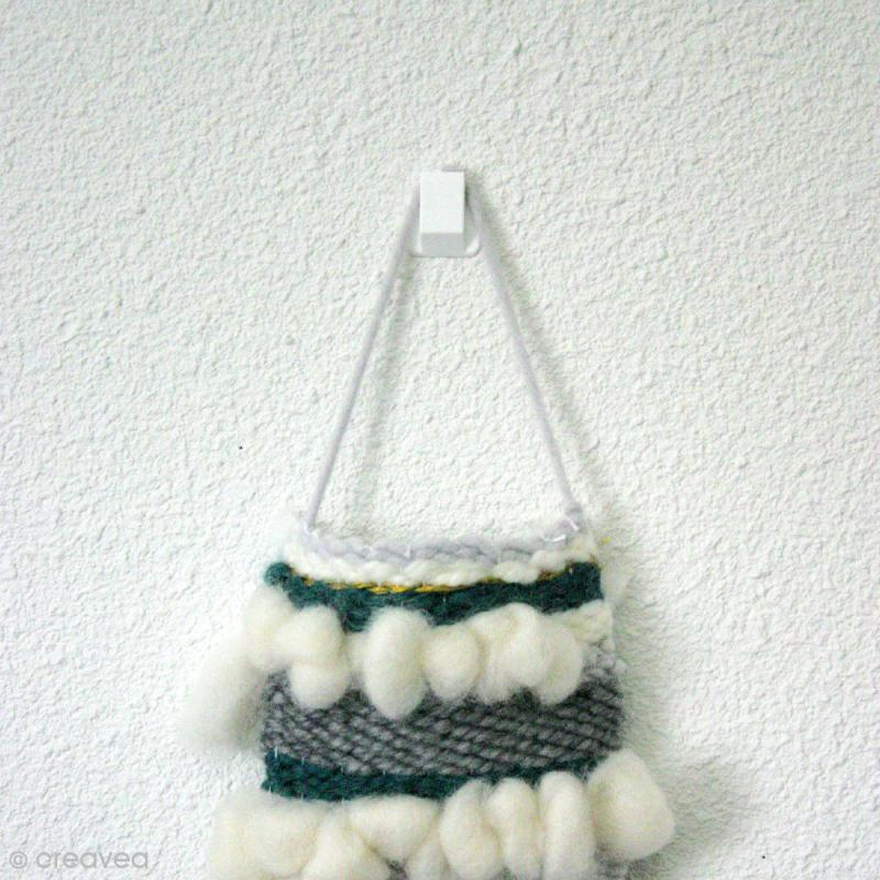 Cintre blanc pour suspension d'objets - 2,6 cm - Photo n°4