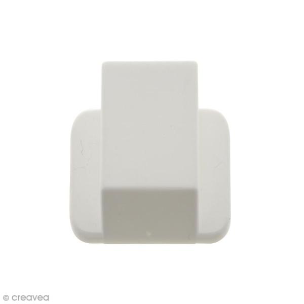 Cintre blanc pour suspension d'objets - 2,6 cm - Photo n°1