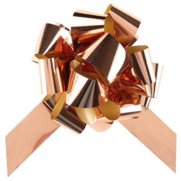 Noeud automatique métal Rose Gold x 5 - Photo n°1