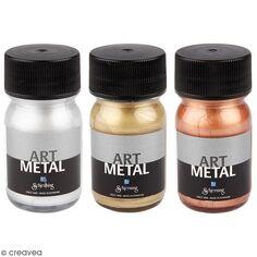Peinture acrylique métallisée - Différentes couleurs - 30 ml