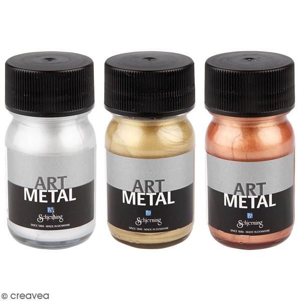 Peinture acrylique métallisée - Différents coloris - 30 ml - Photo n°1