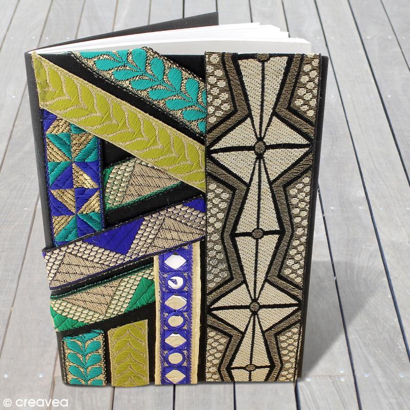 Galon ethnique brod bollywood miroir vert sur bande for Miroir au metre