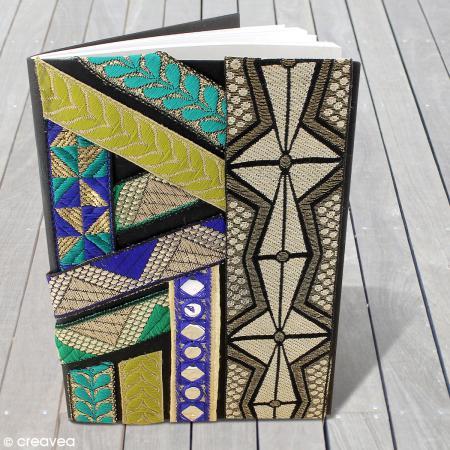Galon ethnique brod bollywood miroir vert sur bande for Acheter miroir sur mesure