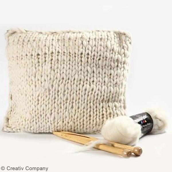 Aiguilles à tricoter - Bambou - 35 cm - Plusieurs tailles - Photo n°2