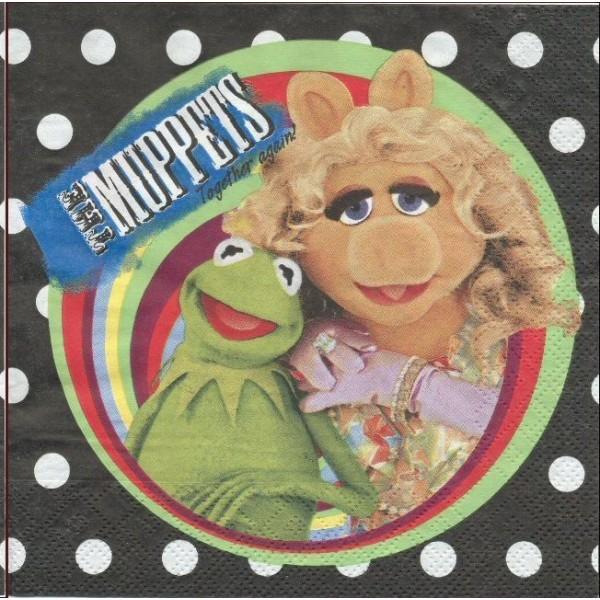 4 Serviettes en papier The Muppets Format Lunch Decoupage Decopatch 1120902 Decorata Party - Photo n°1
