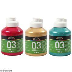 Peinture acrylique nacrée métallisée A-Color - Différentes couleurs - 500 ml