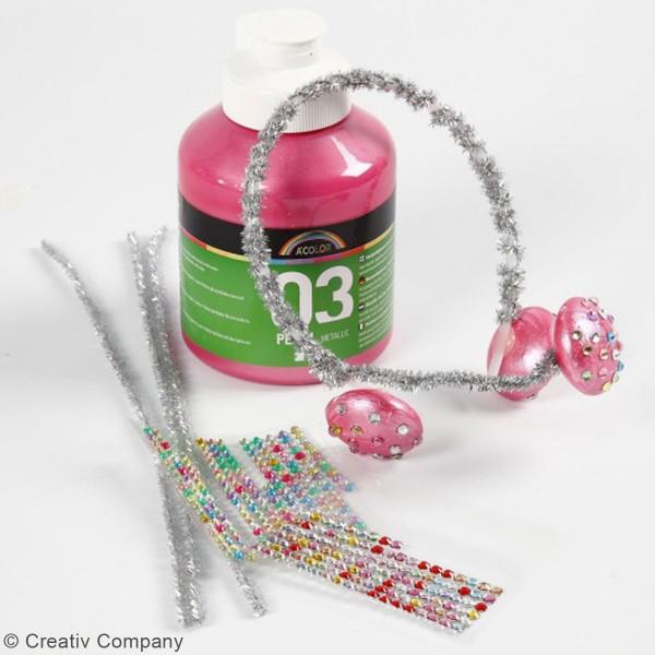 Peinture Acrylique Perle métallique A-Color - Différentes couleurs - 500 ml - Photo n°3