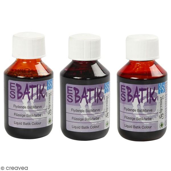 Peinture Batik pour textiles - Différentes couleurs - 100 ml - Photo n°1