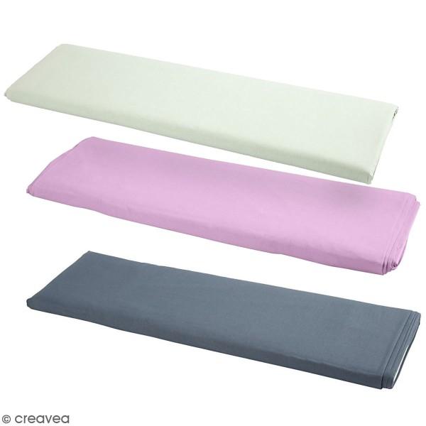 Tissu uni 100% coton - Largeur 145 cm - Par 10 cm (sur mesure) - Photo n°1